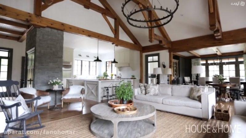 دکوراسیون داخلی , سقف تیر و تیرچه و کف چوبی