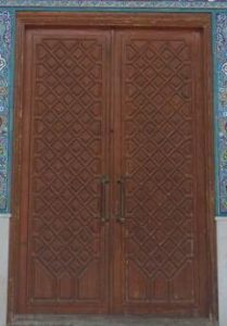 درب تمام چوب هزار قاب لوزی ویژه مساجد و اماکن مذهبی