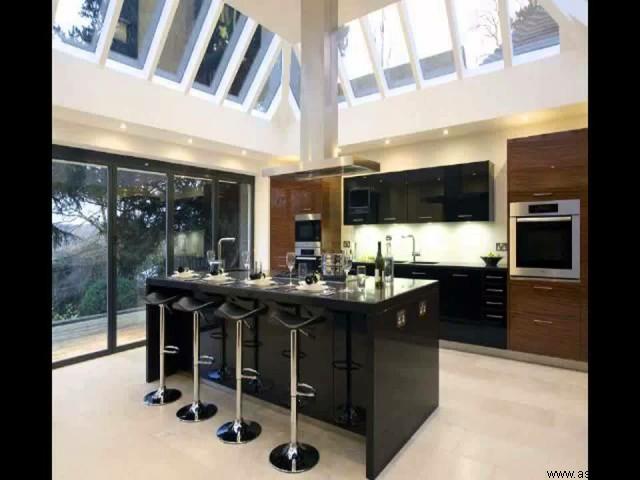 نور طبیعی در آشپزخانه لوکس
