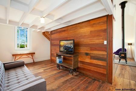 دیوارکوب چوبی , انواع سبک دیوارپوش روکش چوب , mdf  و روکش چوب