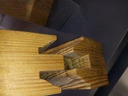 اتصال فاق و زبانه برای درب تمام چوب
