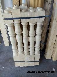 نرده , صراحی , هندریل و کف پله چوبی