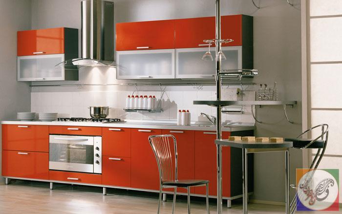 دکوراسیون چوبی منزل کابینت آشپزخانه