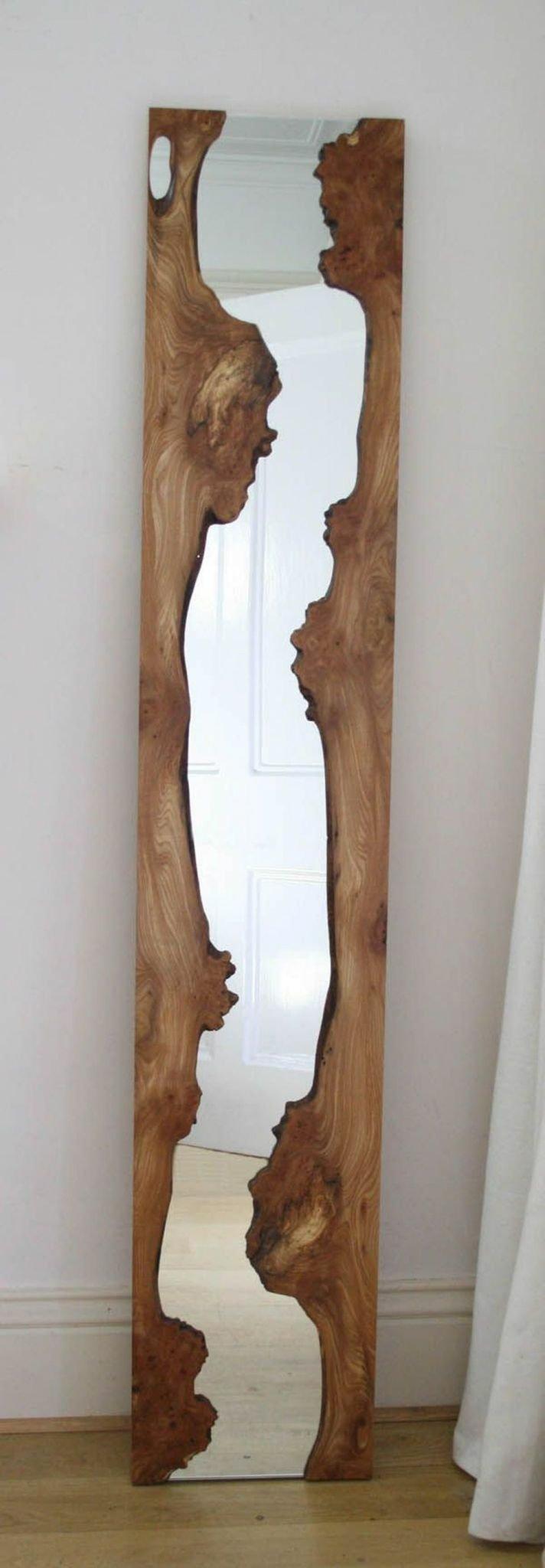 قاب آینه ساخته شده از تخته های اسلب