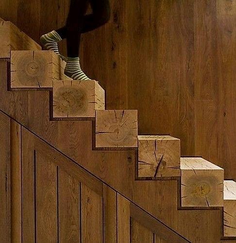 ایده های خلاقانه برای پله های چوب و فلز