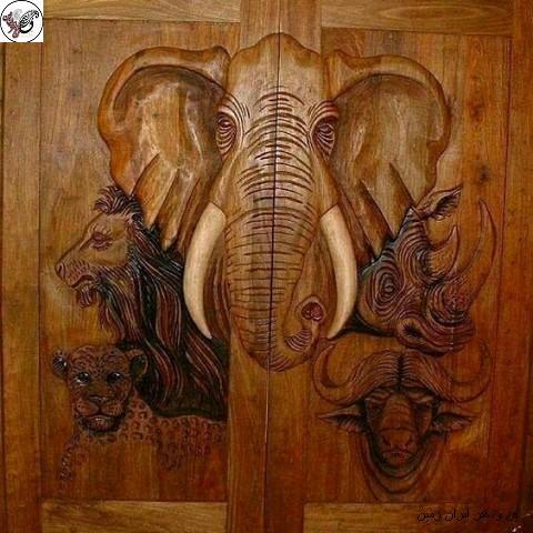 مدل درب چوبی , درب تمام چوب خالص
