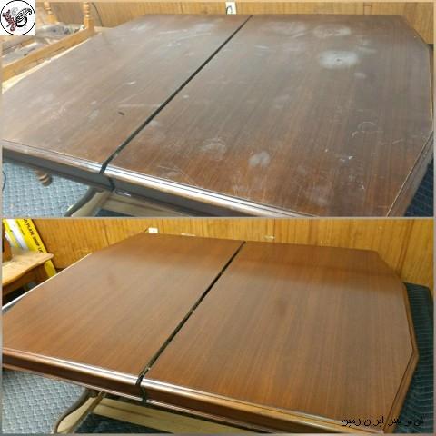 ترمیم رنگ چوب , صفحه میز , رنگ کاری