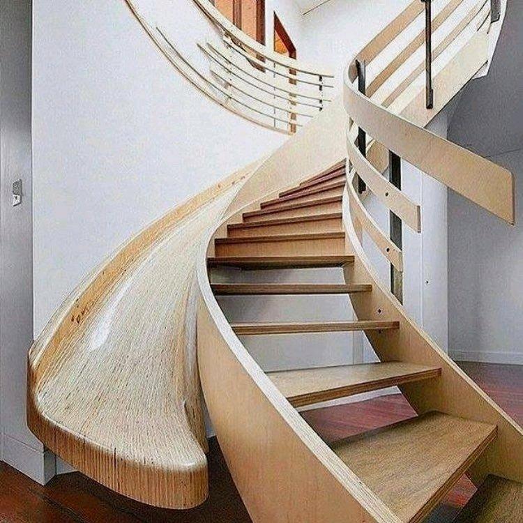 پله چوبی   دکوراسیون داخلی سازه های چوبی , ویلای چوبی