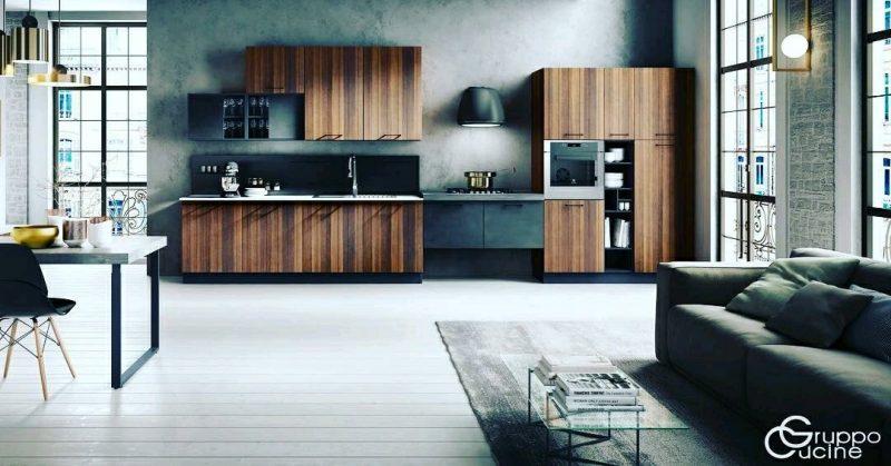 اجرای کابینت زمین مدور و گرد ، درب گرد و قوس دار کابینت آشپزخانه