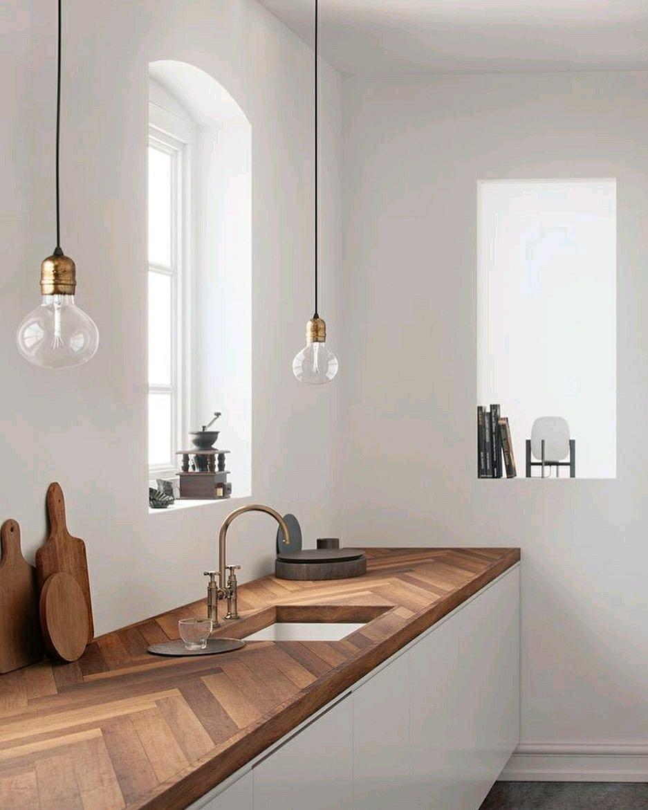 صفحه تمام چوب آشپزخانه