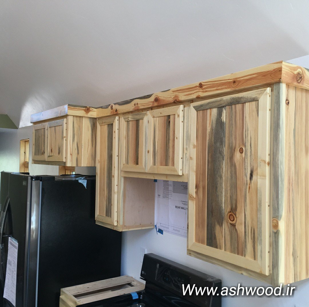 آشپزخانه سبک روستیک چوبی