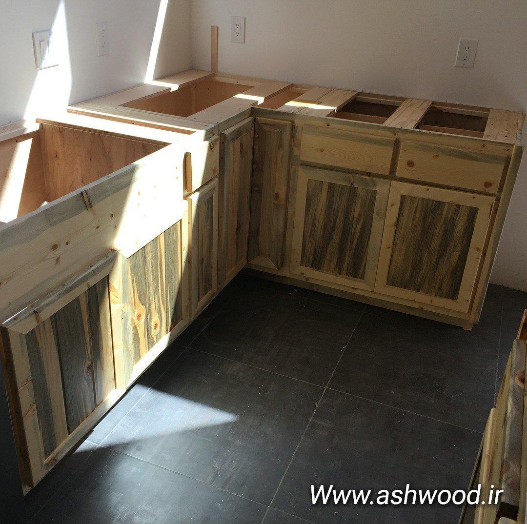 کابینت آشپزخانه تمام چوب کاج روسی