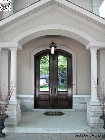 درب ورودی و مدل و طرح جدید درب چوبی خانه و عکس درب ورودی ساختمان و آپارتمان