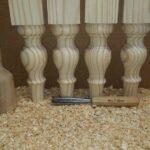پایه چوبی خراطی، نرده , پایه چوبی میز