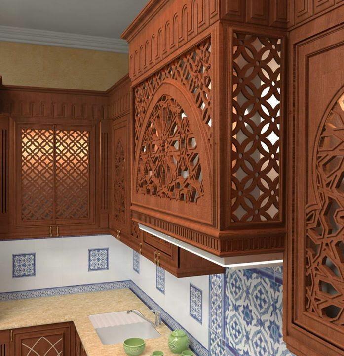 آشپزخانه سبک اسلامی، نقوش هندسی، معماری ایران زمین