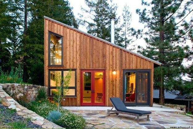 همه چیز درباره کلبه های چوبی و ساختمان ویلایی , کلبه چوبی دوطبقه