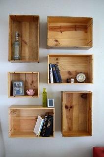 باکس و شلف چوبی