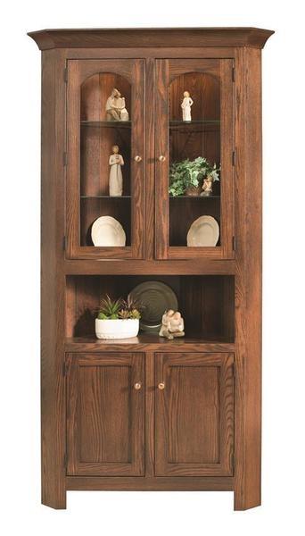 بوفه ویترین چوبی، بوفه ویترین چوبی ساخته شده از چوب کاج