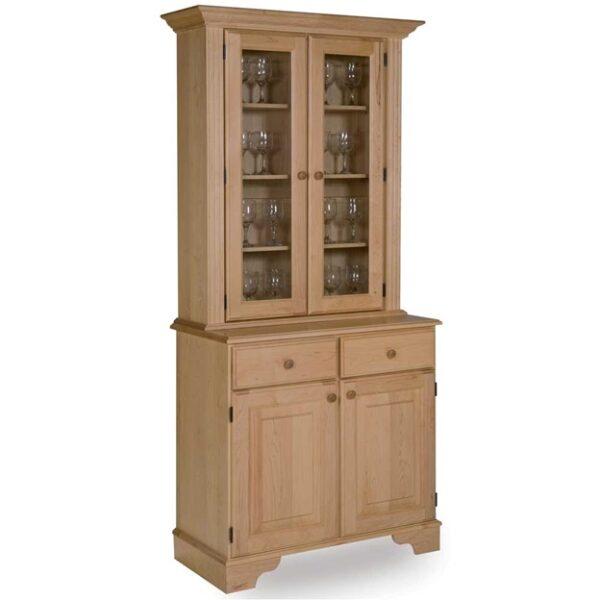 بوفه ویترین چوبی، بوفه ویترین چوبی ساخته شده از چوب افرا