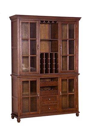 بوفه ویترین چوبی، بوفه ویترین چوبی ساخته شده از چوب بلوط قرمز