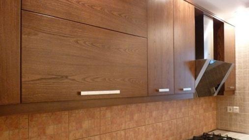 استفاده از رنگ قهوه ای سوخته در کابینت های آشپزخانه