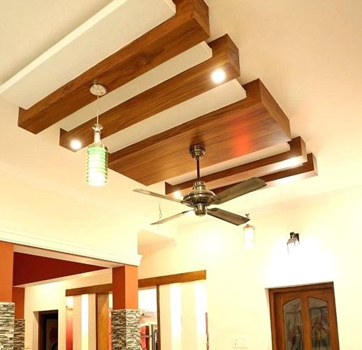 سقف کاذب چوبی معلق