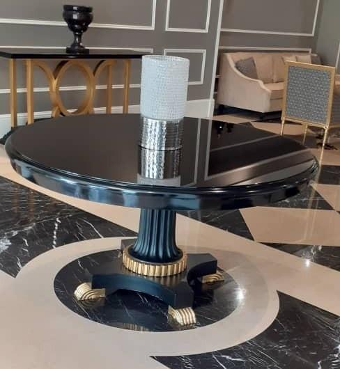 میز طلایی مشکی , میز لابی