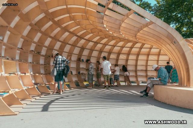 طراحی پارامتریک یک کتابخانه چوبی