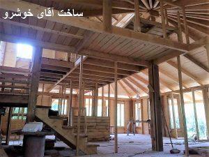 کلبه چوبی ساخت آقای خوشرو
