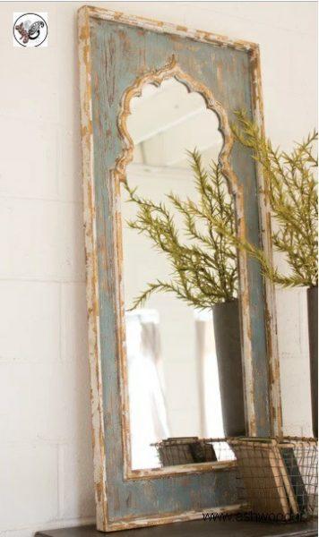 قاب آینه دیواری , آینه چوبی , قاب آینه سفارشی ساز