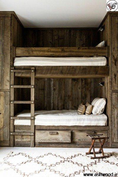 تخت خواب دو طبقه سبک روستیک