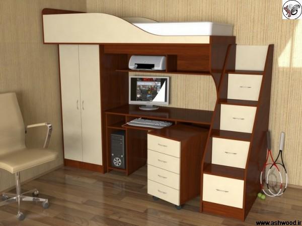 تخت خواب دو طبقه سبک مدرن