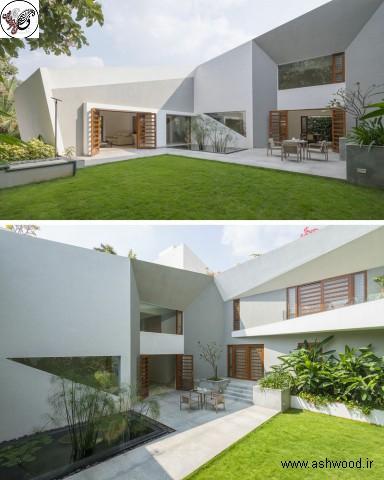 تصاویر درب چوبی حیاط خانه های مدرن و ویلایی