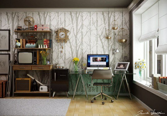 20 ایده عالی چوبی برای  دفتر کار خانه برای الهام بخشیدن به بهره وری