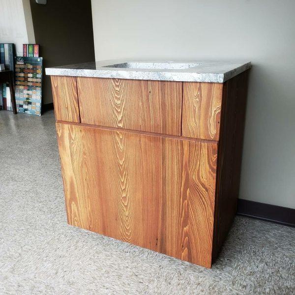 دکوراسیون چوبی منزل , روشویی