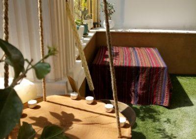 دکوراسیون سنتی ایرانی ، چوب گردو و کاشی فیروزه ای