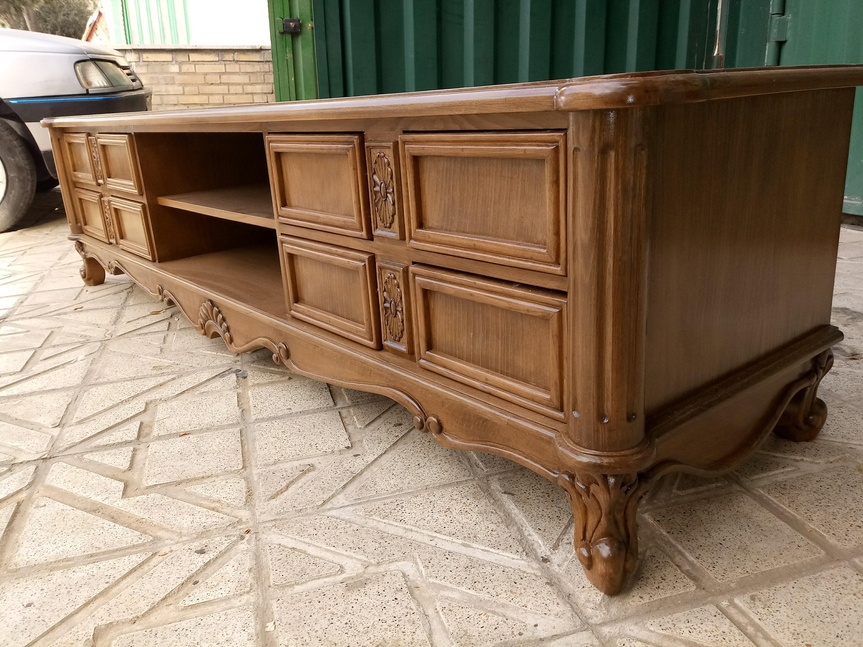 میز تلویزیون چوبی، میز tv لوکس و منبت کلاسیک