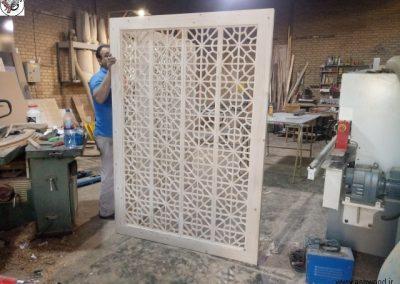دکوراسیون سنتی , دیوار چوبی سنتی , گره چینی , پارتیشن