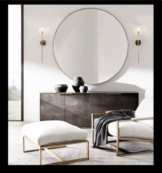 میز کنسول و آینه بزرگ گرد