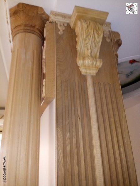 ستون منبت کلاسیک , دکوراسیون لوکس منبت کلاسیک چوبی , قاب بندی روی دیوار , اجرای ستون منبت , تاج منبت چوبی دکوراسیون منبت کلاسیک و سبک رومی در منزل