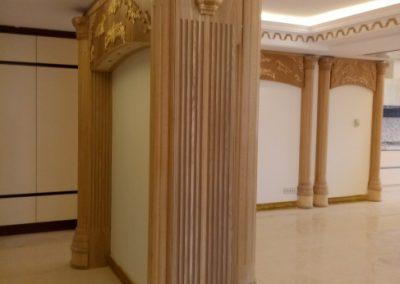 ستون منبت کلاسیک , دکوراسیون لوکس منبت کلاسیک چوبی , قاب بندی روی دیوار , اجرای ستون منبت , تاج منبت چوبی دکوراسیون منبت کلاسیک و سبک رومی در منزل , قاب منبت چوب راش