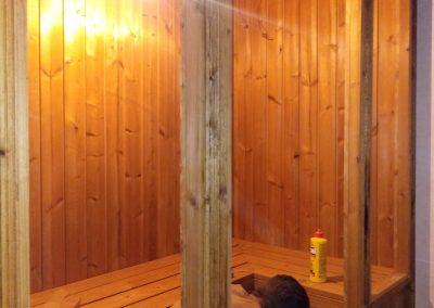 ساخت سونای خشک بوسیله چوب ترمووود , نمای ترمووود , چوب ترمووود , سردرب و ستون چوب ترمو فنلاندی و ترمووود روسی