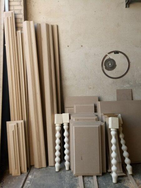 ساخت درب کابینت طرح انزو ستون و پایه خراطی