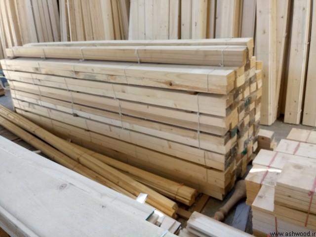 چوب چهار تراش , نیمکتی چوب کاج روسی