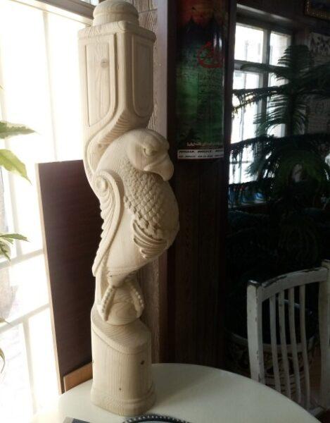 ایستگاه پله چوبی پرنده