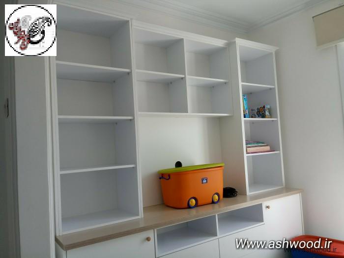نمونه کار کتابخانه چوبی و تخت اتاق کودک , تخت خواب کودک و نوجوان