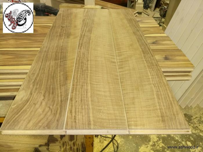 ساخت کفپوش چوبی , تخته و روکش مهندسی شده برای کفپوش و پارکت , روکش های ساپلی و افریقایی