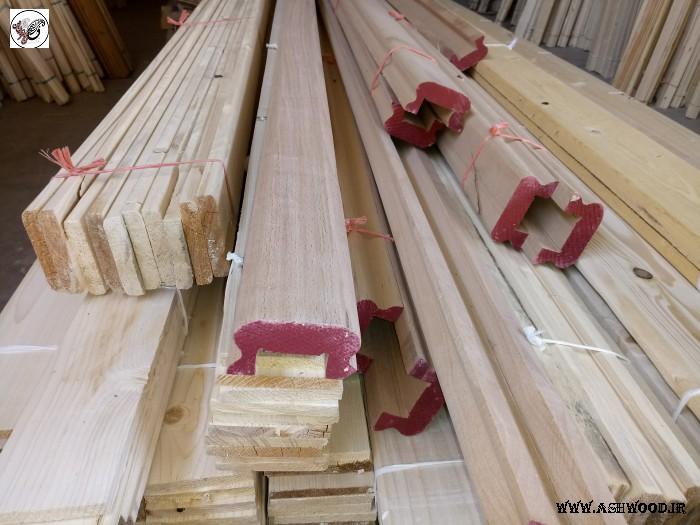 دست انداز، دستگیره پله چوب راش، هندریل چوب و نرده لمبه سقف کاذب، چوب سونا، تخته زیر پایی، تخته کاج و زهوار برش انواع چوب لمبه