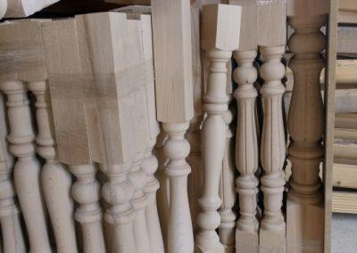 نرده صراحی پله چوبی