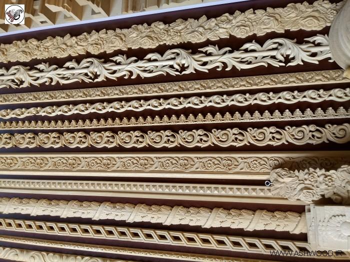 زهوار و ابزار منبت , منبت چوبی , سرستون و پایه , زهورار و روکوب روی چهارچوب